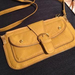 Yellow clutch/shoulder bag